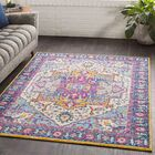 Almonte Pink/Yellow Area Rug Rug Size: Rectangle 7'10