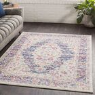 Almonte Distressed Pink/Navy Area Rug Rug Size: Rectangle 7'10