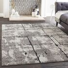 Cateline Distressed Taupe/Charcoal Area Rug Rug Size: Rectangle 7'10