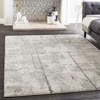 Cateline Distressed Light Gray/Taupe Area Rug Rug Size: Rectangle 5'3