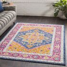 Almonte Traditional Gold/Navy Area Rug Rug Size: Rectangle 5'3