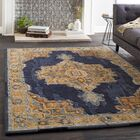 Greaney Hand Tufted Wool Black/Navy Area Rug Rug Size: Rectangle 2' x 3'