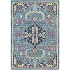 Lancaster Traditional Teal/Navy Area Rug Rug Size: Rectangle 7'10