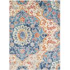 Drennen Distressed Blue/Burnt Orange Area Rug Rug Size: Rectangle 5'3