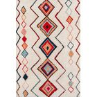 Bungalow Olivia Hand-Tufted Red/Cream Area Rug Rug Size: Rectangle 3'6