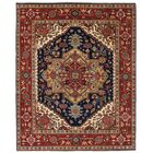 One-of-a-Kind Doerr Hand-Knotted Wool Dark Navy/Red Area Rug