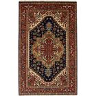 One-of-a-Kind Doerr Hand Knotted Wool Navy/Red Area Rug