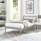 Thelen Bed Frame Color: Gray