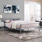 Geller Full Platform Bed Frame Color: Gray
