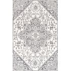 Chapdelaine Hand-Tufted Wool Gray Rug Rug Size: Rectangle 7'6