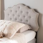 Houghton Upholstered Panel Headboard Size: King, Color: Grayish Beige