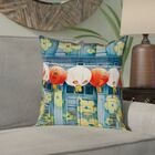 Akini Lanterns in Singapore Square Pillow Cover with Zipper Size: 20