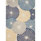 Folden Beige/Blue Area Rug Rug Size: Rectangle 7'10