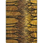One-of-a-Kind Oldfield Hand Woven Gold/Black Area Rug Rug Size: Rectangle 5'4