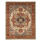 Drewry Traditional Oriental Hand-Knotted Wool Blue/Red Area Rug Rug Size: Rectangle 8' x 10'