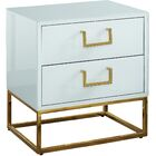 Kemble 2 Drawer Nightstand Color: White/Gold