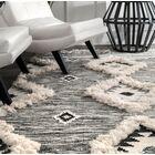 Cawley Hand-Woven Wool Gray Area Rug Rug Size: Rectangle 8' 6