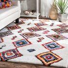 Cervantez Brown/Pink/Blue Area Rug Rug Size: Rectangle 5' x 7'
