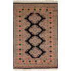 One-of-a-Kind Do Hand-Knotted Wool Beige/Black Area Rug