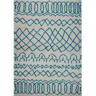 Chesnut Shaggy Ivory/Turquoise Area Rug Rug Size: Rectangle 6'5