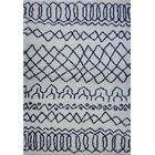 Chesnut Shaggy Ivory/Blue Area Rug Rug Size: Rectangle 7'10