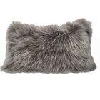 Kimbell Tibetan Snowtop Wool Throw Pillow Color: Orange