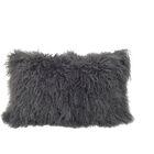 Kimbell Tibetan Snowtop Wool Throw Pillow Color: Charcoal