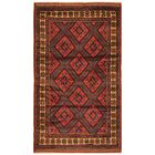 One-of-a-Kind Prentice Hand-Knotted Wool Red/Brown Area Rug
