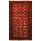 One-of-a-Kind Prentice Hand-Knotted Wool Red/Navy Area Rug