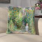 Ghislain Flower Garden Linen Throw Pillow Size: 16