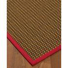 Kimbrel Hand-Woven Brown Area Rug Rug Size: Rectangle 4' x 6'