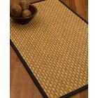 Castiglia Border Hand-Woven Beige/Black Area Rug Rug Size: Rectangle 8' x 10', Rug Pad Included: Yes