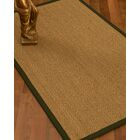 Mahaney Border Hand-Woven Beige/Moss Area Rug Rug Size: Rectangle 12' x 15', Rug Pad Included: Yes