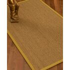 Mahaney Border Hand-Woven Beige/Tan Area Rug Rug Size: Rectangle 4' x 6', Rug Pad Included: Yes