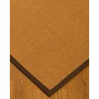 Kennamer Border Hand-Woven Brown Area Rug Rug Size: Rectangle 5' x 8', Rug Pad Included: Yes