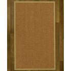 Asmund Border Hand-Woven Brown/Natural Area Rug Rug Size: Rectangle 9' x 12', Rug Pad Included: Yes