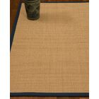 Chaves Border Hand-Woven Wool Beige/Marine Area Rug Rug Pad Included: No, Rug Size: Runner 2'6