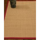 Chaves Border Hand-Woven Wool Beige/Red Area Rug Rug Size: Rectangle 6' x 9', Rug Pad Included: Yes