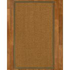 Asmund Border Hand-Woven Brown/Fossil Area Rug Rug Size: Rectangle 8' x 10', Rug Pad Included: Yes