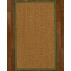 Asmund Border Hand-Woven Brown/Green Area Rug Rug Size: Rectangle 4' x 6', Rug Pad Included: Yes
