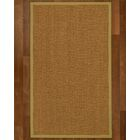 Asmund Border Hand-Woven Brown/Khaki Area Rug Rug Size: Rectangle 8' x 10', Rug Pad Included: Yes