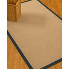 Chea Border Hand-Woven Wool Beige/Marine Area Rug Rug Size: Rectangle 8' x 10', Rug Pad Included: Yes