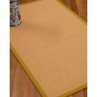Lafayette Border Hand-Woven Wool Beige/Tan Area Rug Rug Pad Included: No, Rug Size: Runner 2'6
