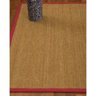 Heidenreich Border Hand-Woven Beige/Red Area Rug Rug Size: Rectangle 4' x 6', Rug Pad Included: Yes