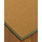 Atia Border Hand-Woven Beige/Fossil Area Rug Rug Size: Rectangle 4' x 6', Rug Pad Included: Yes
