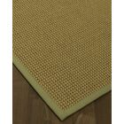Atia Border Hand-Woven Green/Natural Area Rug Rug Size: Rectangle 8' x 10', Rug Pad Included: Yes