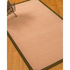 Farnham Border Hand-Woven Wool Pink/Olive Area Rug Rug Pad Included: No, Rug Size: Rectangle 3' x 5'