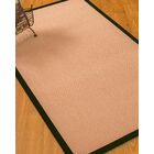 Farnham Border Hand-Woven Wool Pink/Moss Area Rug Rug Size: Rectangle 5' x 8', Rug Pad Included: Yes