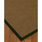 Keown Border Hand-Woven Brown/Black Area Rug Rug Size: Rectangle 4' x 6', Rug Pad Included: Yes
