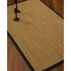 Vanmatre Border Hand-Woven Beige/Midnight Blue Area Rug Rug Size: Rectangle 4' x 6', Rug Pad Included: Yes